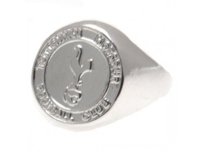 Tottenham Hotspur ring - Silver Plated Crest Ring - Large
