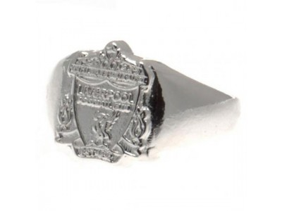 Liverpool smykke - LFC Silver Plated Crest Ring - Large