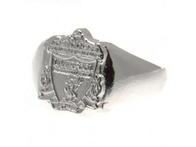 Liverpool FC ring logo sølvfarvet - Silver Plated Crest Ring