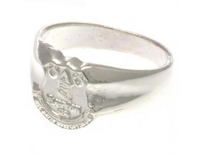 Everton ring - EFC Silver Plated Crest Ring - Small
