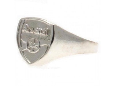 Arsenal ring - Silver Plated Crest Ring - Medium