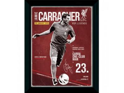 Liverpool FC billede - Picture Carragher Retro 16 x 12
