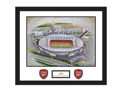 Arsenal stadion kunst - Stadia Art Mounted Print Emirates
