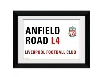 Liverpool FC billede - Picture Street Sign 16 x 12