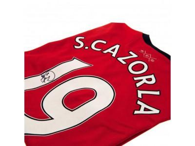 Arsenal trøje med autograf - Cazorla Signed Shirt