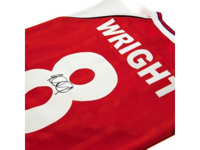 Arsenal trøje med autograf - Wright Signed Shirt