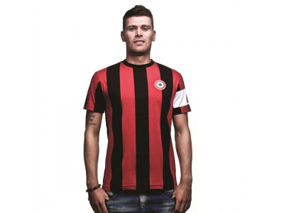 Milan Capitano T-Shirt - Sort Rød