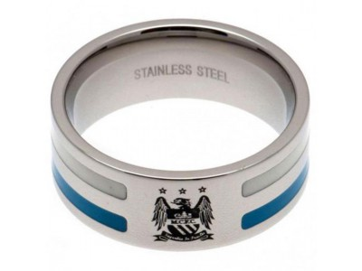 Manchester City - Colour Stripe Ring - Medium EC