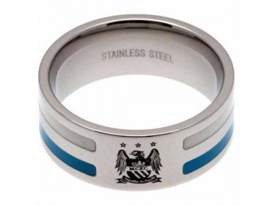 Manchester City ring - Colour Stripe Ring Small EC