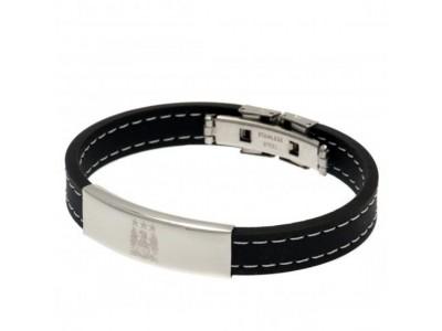 Manchester City armbånd - MCFC Stitched Silicone Bracelet EC