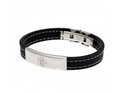 Manchester United armbånd - Stitched Silicone Bracelet BK