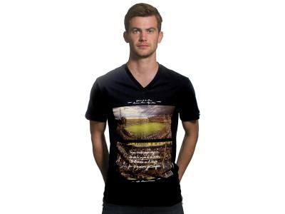 La Bombonera v-hals t-shirt i sort