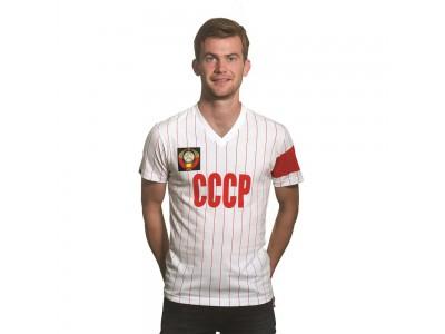 Sovjet CCCP anfører v-hals t-shirt - hvid