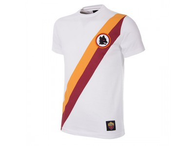 AS Roma retro t-shirt udebane | hvid