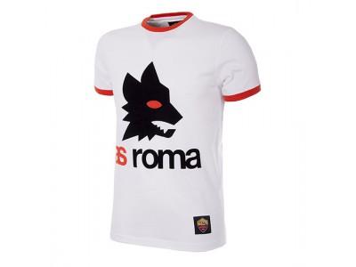 AS Roma Retro Logo T-Shirt | Hvid