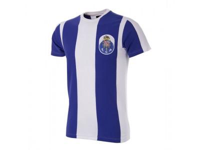 FC Porto retro t-shirt i farverne hvid og blå