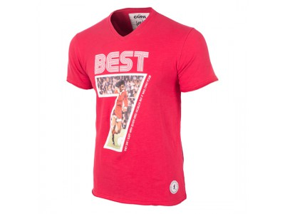 George Best Miss World V-Neck T-Shirt - rød