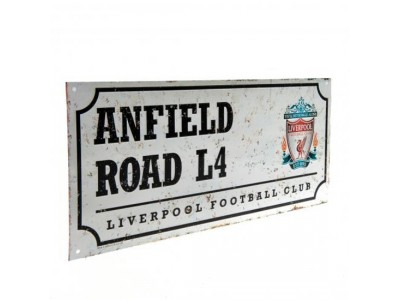 Liverpool FC gadeskilt - Retro Street Sign
