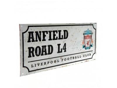 Liverpool FC gadeskilt - Retro Street Sign
