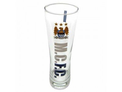 Manchester City FC Tall Beer Glass EC