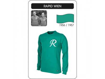 Rapid Wien 1956/57 Long Sleeve Retro Football Shirt