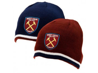 West Ham hue vendbar - Reversible Knitted Hat