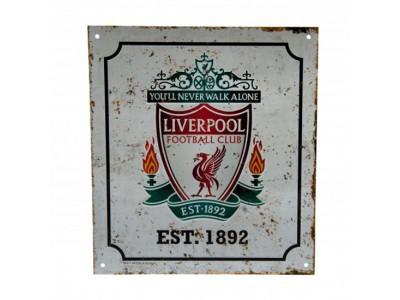 Liverpool FC skilt - Retro Logo Sign
