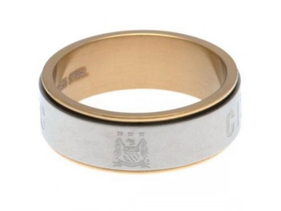 Manchester City ring - Bi Colour Spinner Ring Small EC - Small