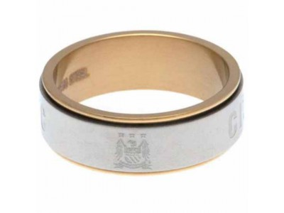 Manchester City spinner ring - Bi Colour Spinner Ring Medium EC