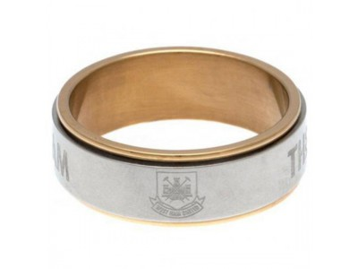 West Ham ring - Bi Colour Spinner Ring XX-Large CT