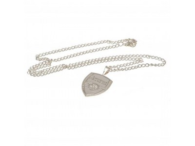 Arsenal kæde med emblem - Silver Plated Pendant & Chain XL