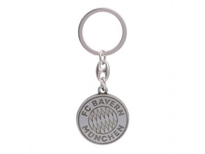 FC Bayern Munchen nøglering - FCB Keyring Logo silver