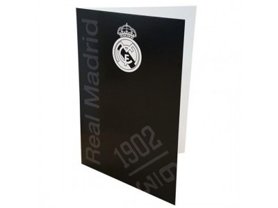 Real Madrid lykønsknings kort - Greetings Card Black
