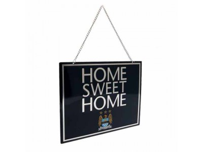 Manchester City skilt - Home Sweet Home Sign EC
