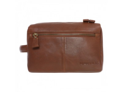 Liverpool toilettaske luksus - LFC Brown Signature Washbag