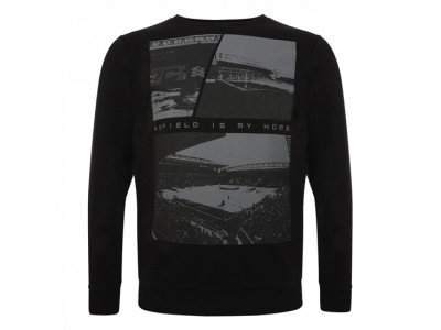 Liverpool sweater - Black Ground Crew Sweater - voksen
