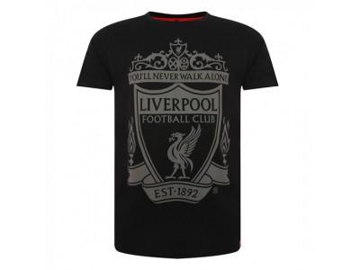 Liverpool t-shirt - Black Crest Tee - voksen