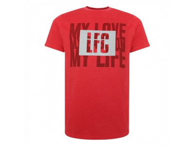 Liverpool t-shirt - Red Marl Tee - voksen