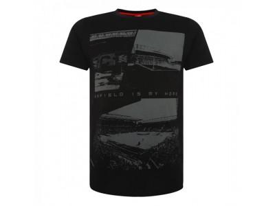 Liverpool t-shirt - Black Anfield Tee - voksen