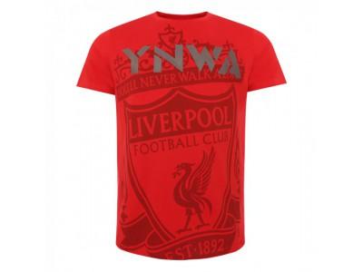 Liverpool t-shirt - Red Crest YNWA Tee - voksen