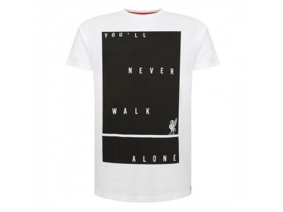Liverpool t-shirt - White You'll Never Tee - voksen