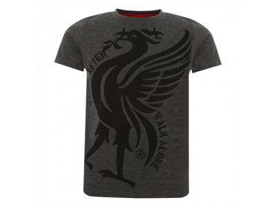 Liverpool t-shirt - Charcoal Liverbird YNWA Tee - børn