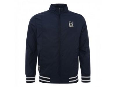 Liverpool jakke - Navy Funnel Neck Harrington Jacket