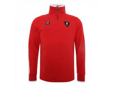 Liverpool trøje med lynlås - Red 1/4 Zip Through