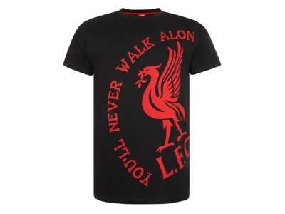 Liverpool t-shirt - Black You'Ll Never Walk Alone Tee - herrer