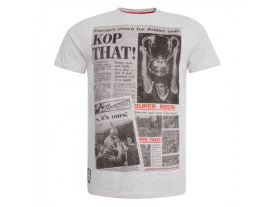 Liverpool t-shirt Ecru Marl Kop That Tee - hvid