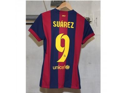 Barcelona hjemme trøje 2014/15 - dame - Suarez 9