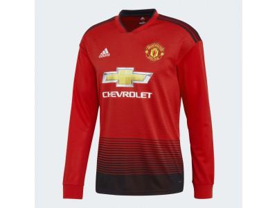 Manchester United hjemme trøje L/Æ 2018/19 - CL