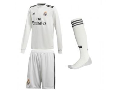 Real Madrid Hjemme Sæt L/S 2018/19 - børn