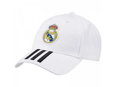 Real Madrid cap kasket 2018/19 - hvid - børn og voksen